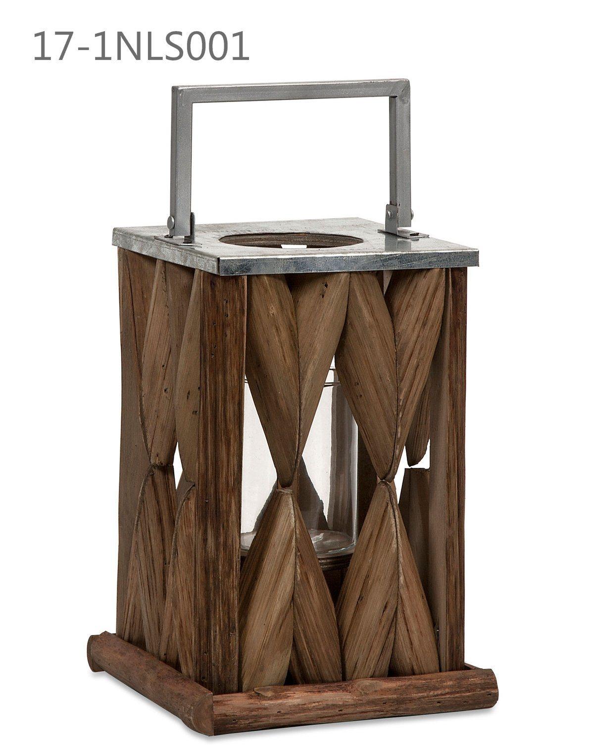 Oblong Antique Unique with Handle of Wooden Lanterns