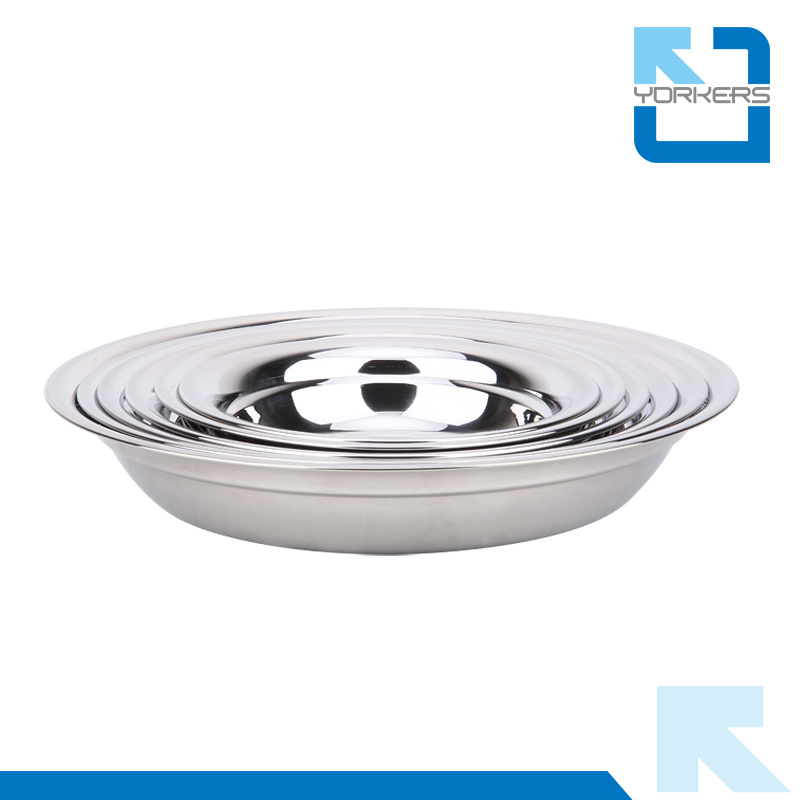 Multi-Size Stainless Steel Soup Plate & Mixing Bowls