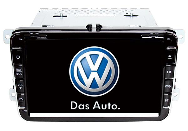 Wince 6.0 Mtk3360 Solution Car GPS for VW Golf Bora Cc Magotan Fabia Octavia with Bluetooth FM Am USB DVD iPod DVB-T