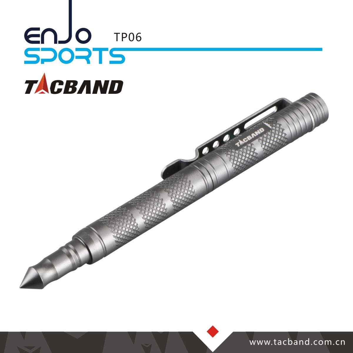 Tp06 Essential Tactical Pen 6061-T6 Aluminum Gun Smoke