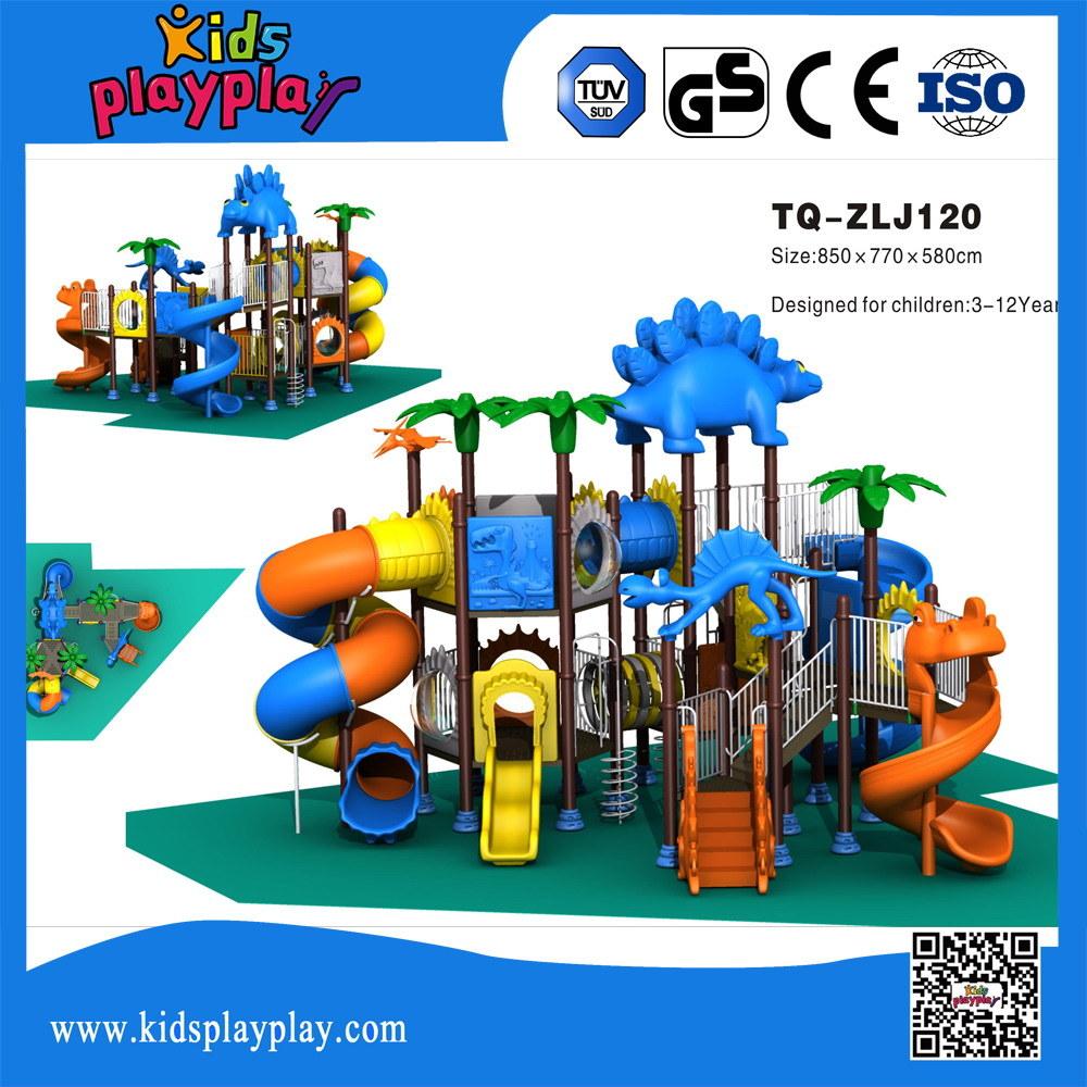 Dinosaur Series Plastic Playground Plastic and Metal Part Outdoor Playground Type