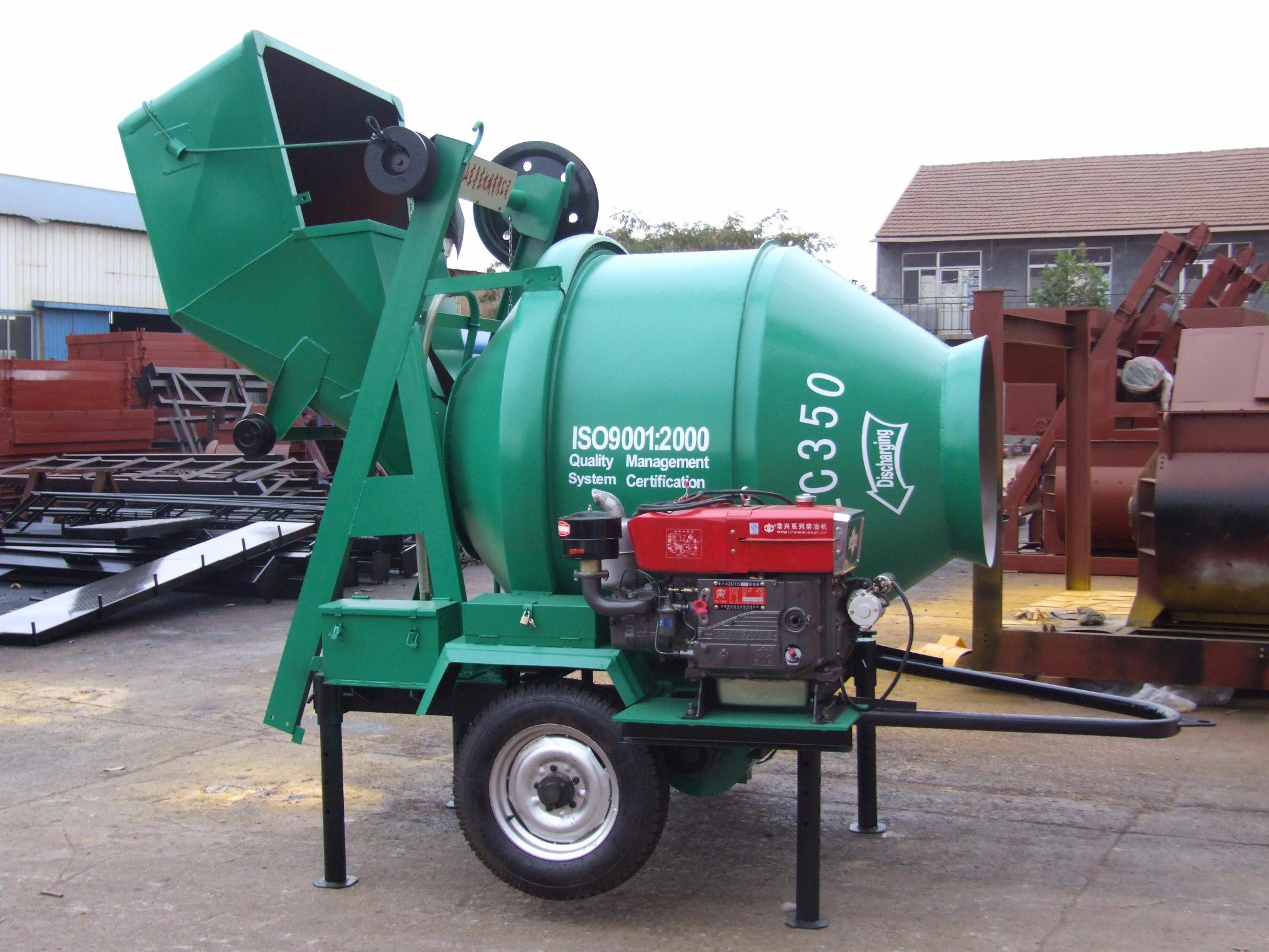 Energy Saving Jzc350 Electric Concrete Scarifying Mixer Machine