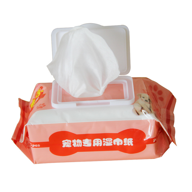 Pet Wipes Cleaning Supplies 80 Pieces of Deodorization