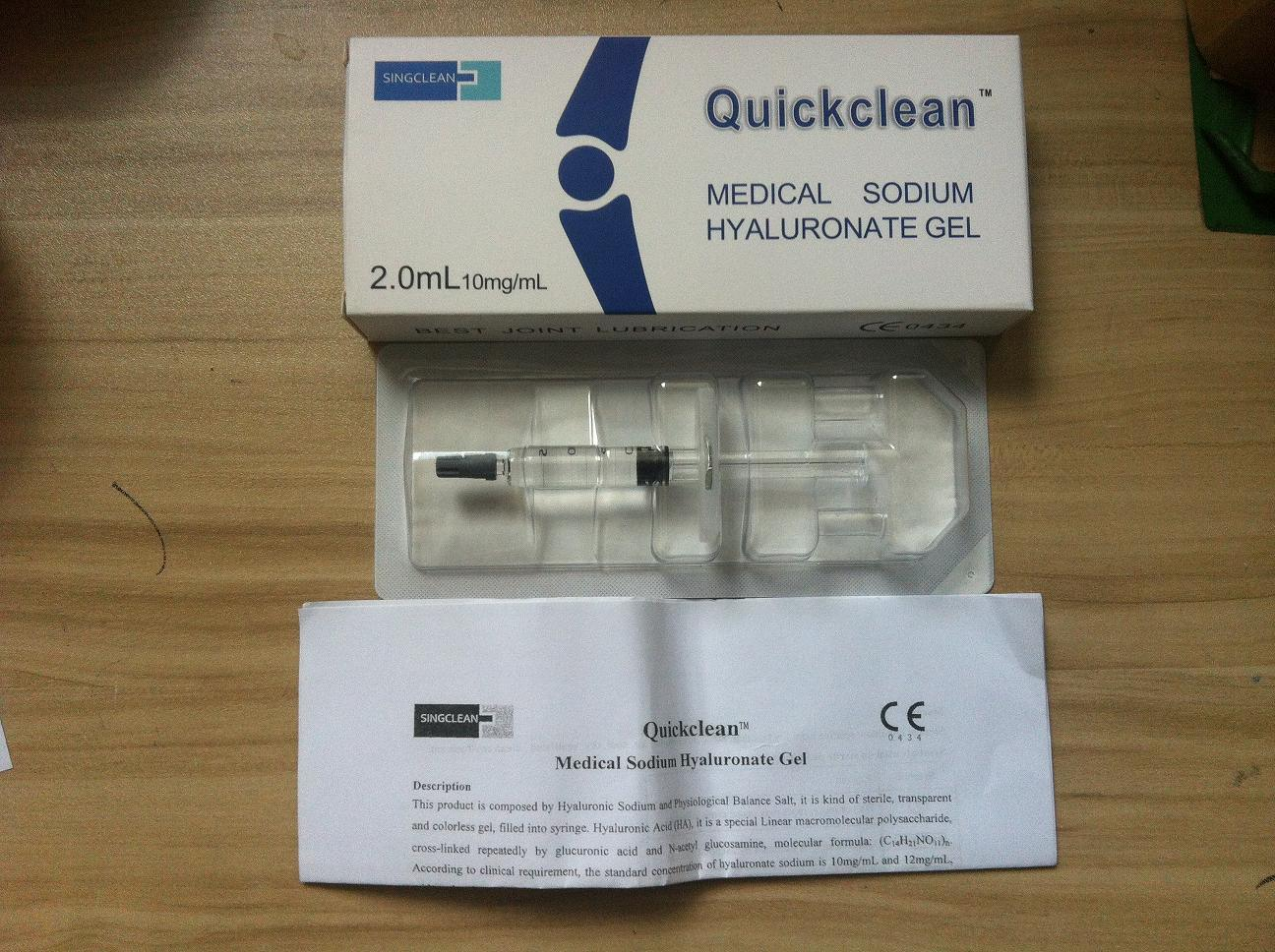 Quickclean Manufacturer Supply Hyaluronic Acid for Intra-Articular Injection