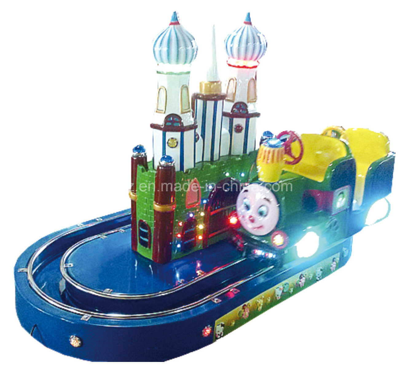 Top Sale Round Castle Train with Track for Kids Ride Thomas Train Ride