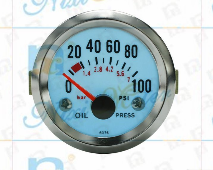 "2"" 52mm 0-100 Oil Pressure Gauge with Cold Light"