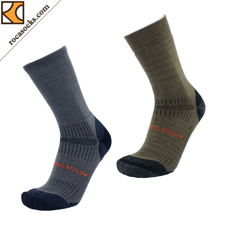 Outdoor Hiking Merino Wool Crew Socks of Men (162006SK)