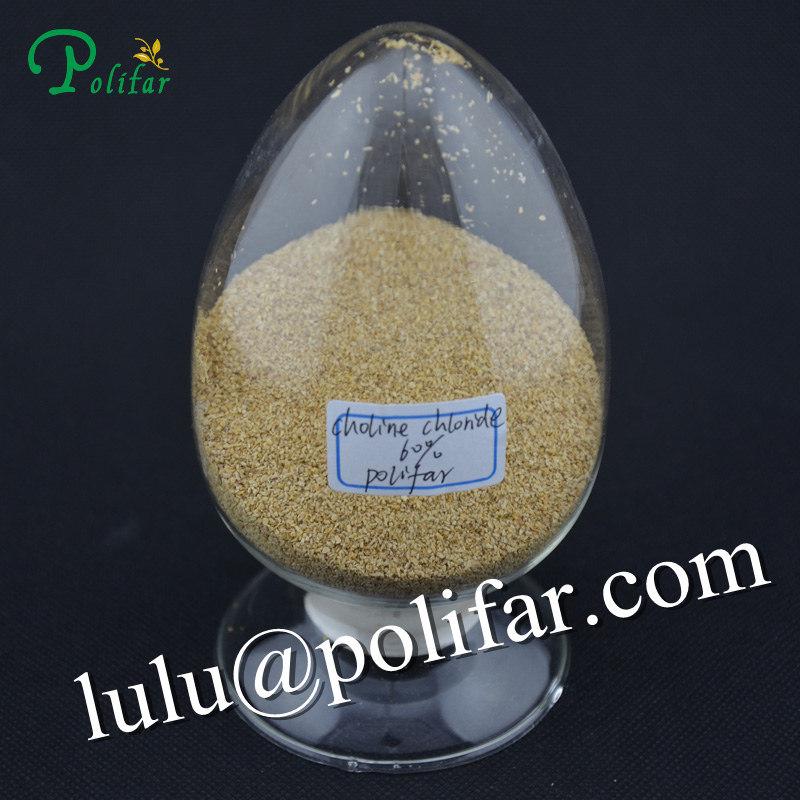 Fami-QS Certified Choline Chloride 60% Corn COB Carrier Choline Chloride Vegetable Carrier