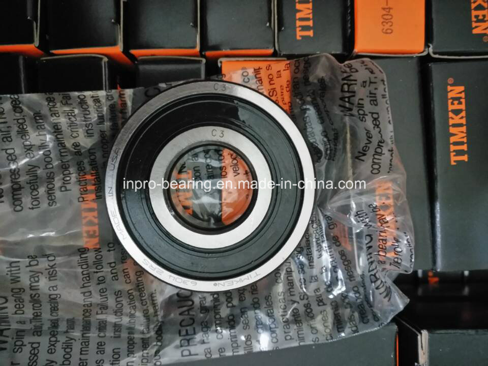 High Quality Industrial Deep Groove Ball Bearing Timken 6000, 6200, 6300, 6301, 6302, 6303, 6304 2RS/Zz