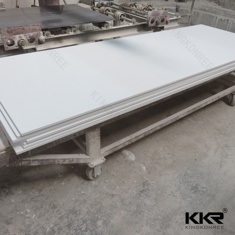 12mm Pure White Corian Acrylic Solid Surface 0706