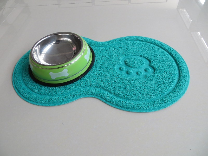 Pet Supply PVC Cat Litter Catcher Mat Pet Feeding Bowl Mat