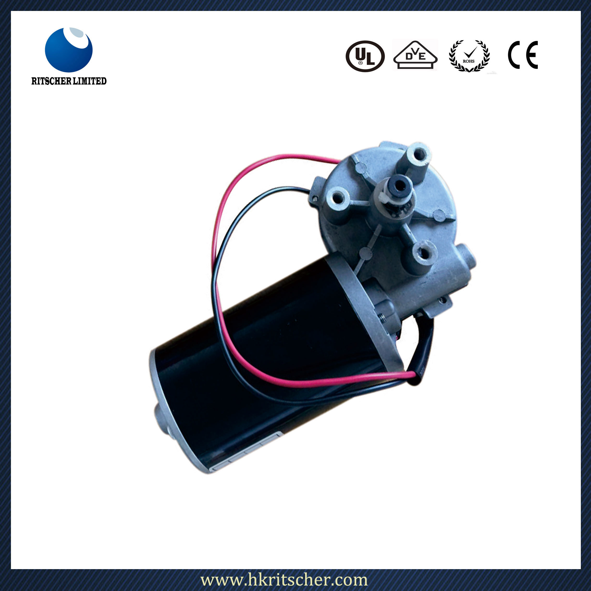 20-200rpm 1-40nm Low Speed DC Gear Motor