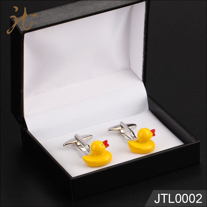 Fashion Nice Quality Yellow Duck Design Cufflinks Bulk Sale