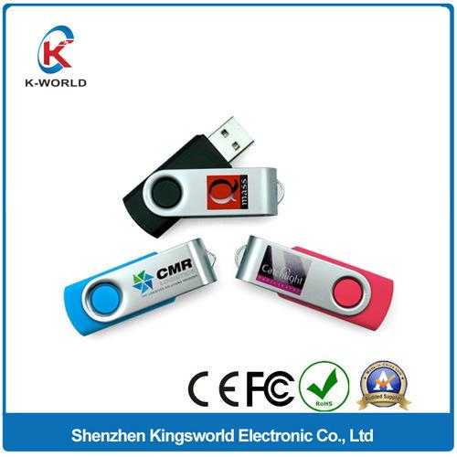 Free Sample High Quality 1/2/4/8GB Metal Swivel USB