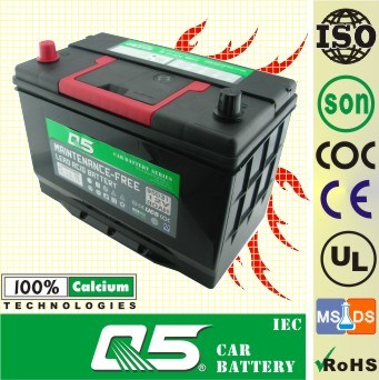 JIS-95D31 12V80AH Maintenance Free Charge for Car Battery