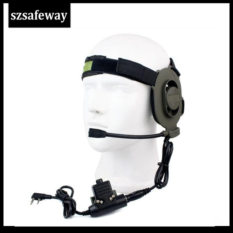 Two Way Radio Tactical Headset for Kenwood Walkie Talkie