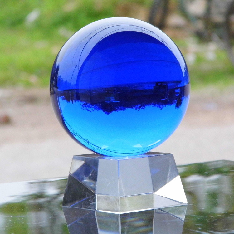 Cheap Crystal Balls Customized Crystal Glass Ball Decoration Ks120401