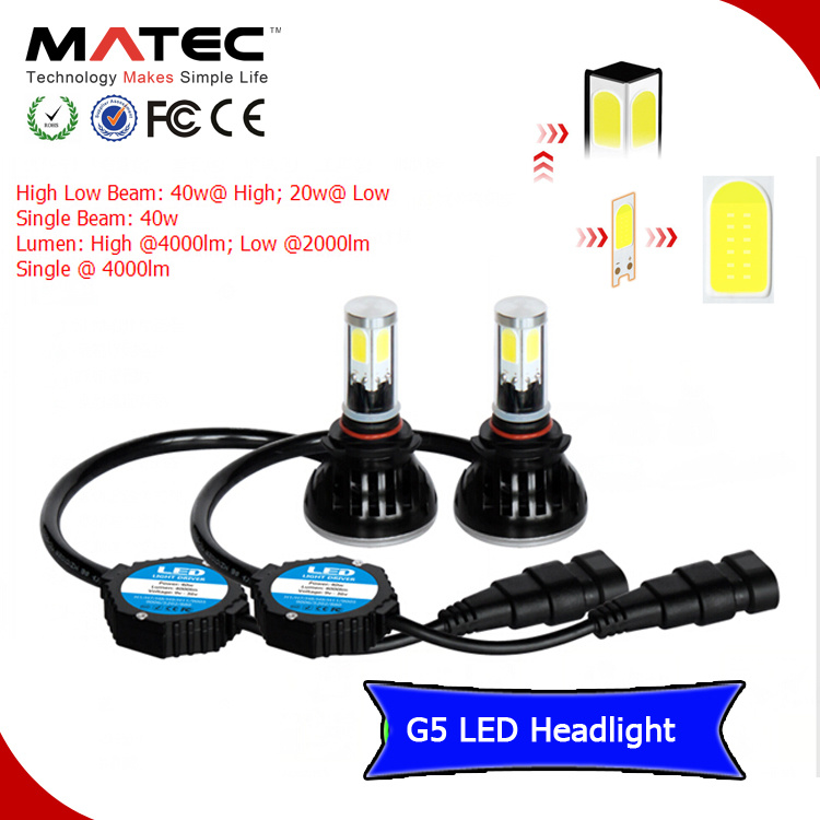 40W 4000lm H1 H7 H11 H16 880 881 9005 9006 LED Headlamp
