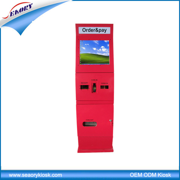 Lobby Standing Touch Screen Coin Dispenser Kiosk