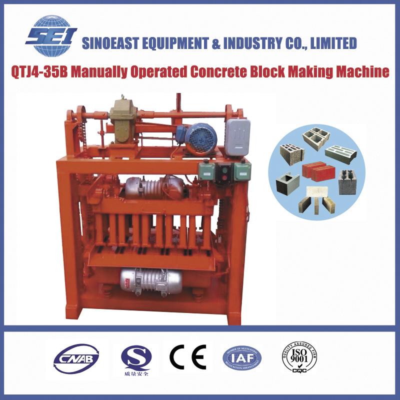 Qtj4-35b Manually Operated Concrete Block Making Machine
