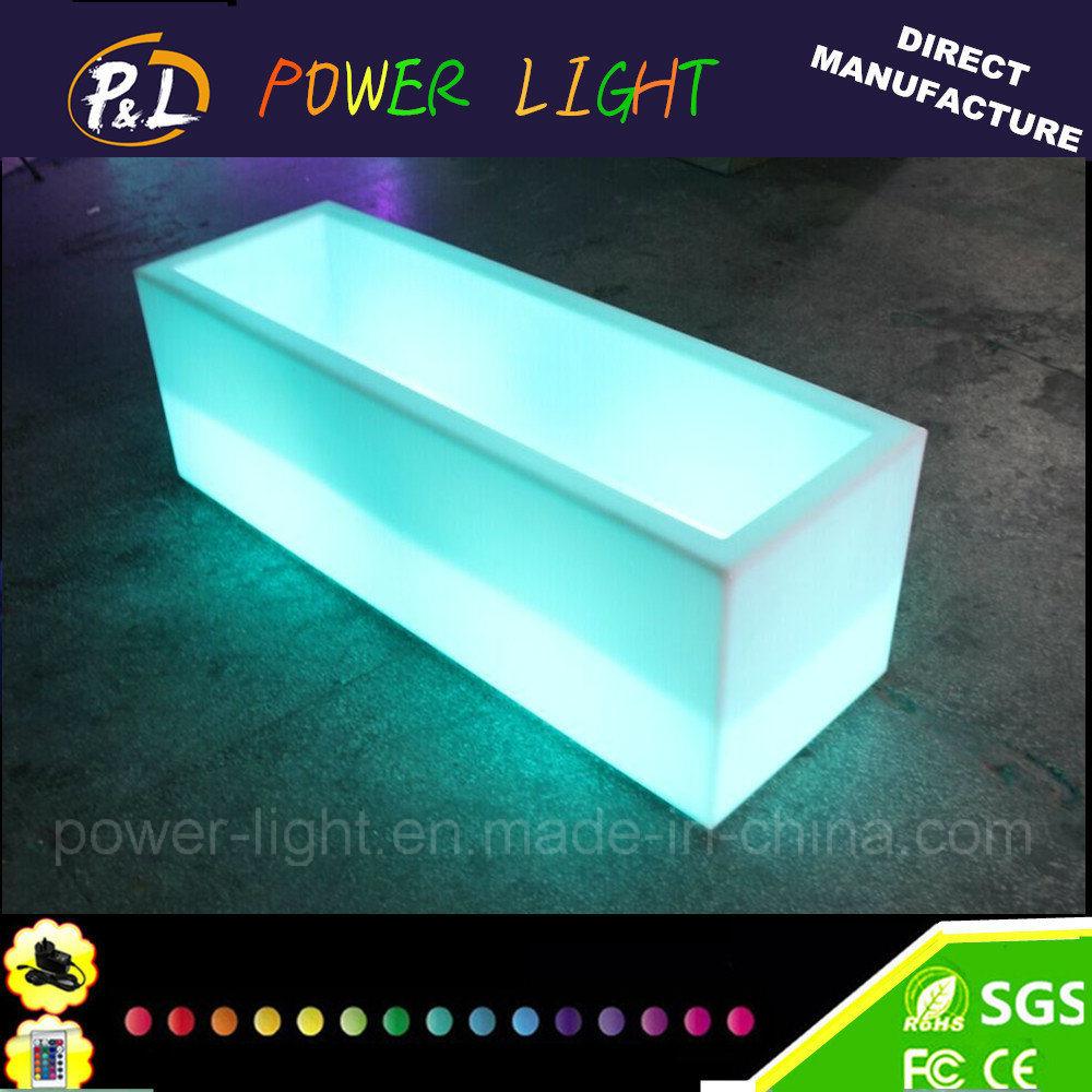 Multi-Color Nightclub KTV Bar Furniture PE LED Wine Cabinet