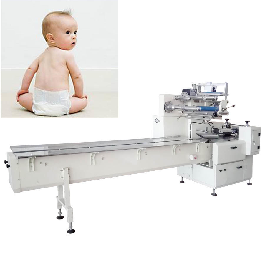Servo Motor Toilet Paper Machine with Baby Diapers Packing Machine