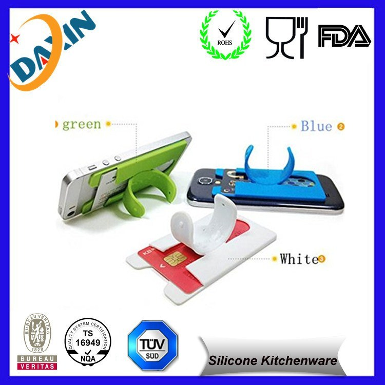 Hot Sale Factory Price Silicone Phone Stand with Card Holder