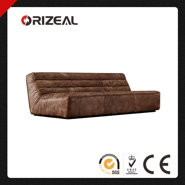 Orizeal Modern Leisure Genuine Leather Armless Sofa (OZ-LS-2019)