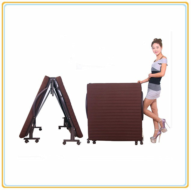 Bedroom Furniture/Metal Folding Bed with Mattress 190*80cm
