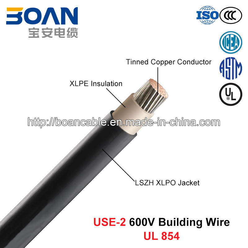 Use-2, Building Wire, 600 V, Tinned Cu/XLPE/Lszh (UL 854)