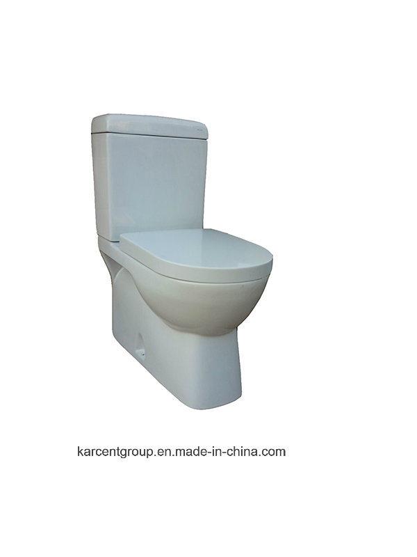 Two Piece Ceramic Toilet Washdown Toilet Water Closet Wc 00119