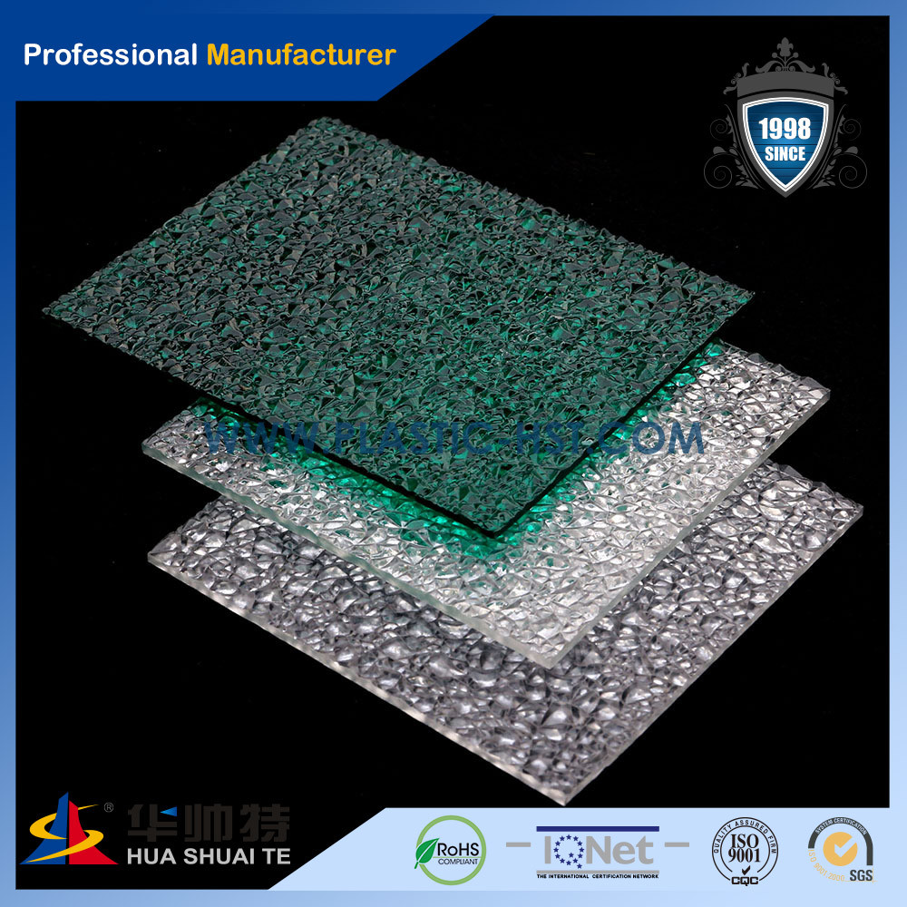 High Quality Colorful Lexan Material Polycarbonate PC Embossed Sheet