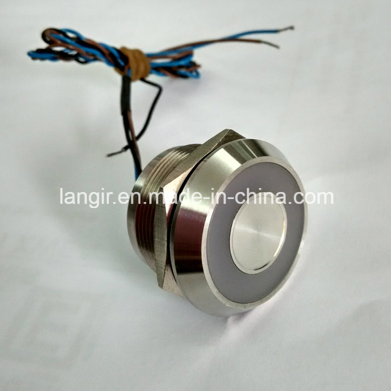 25mm Bi-Color Large Ring LED Stainless Steel 316L Latching Piezo Switch