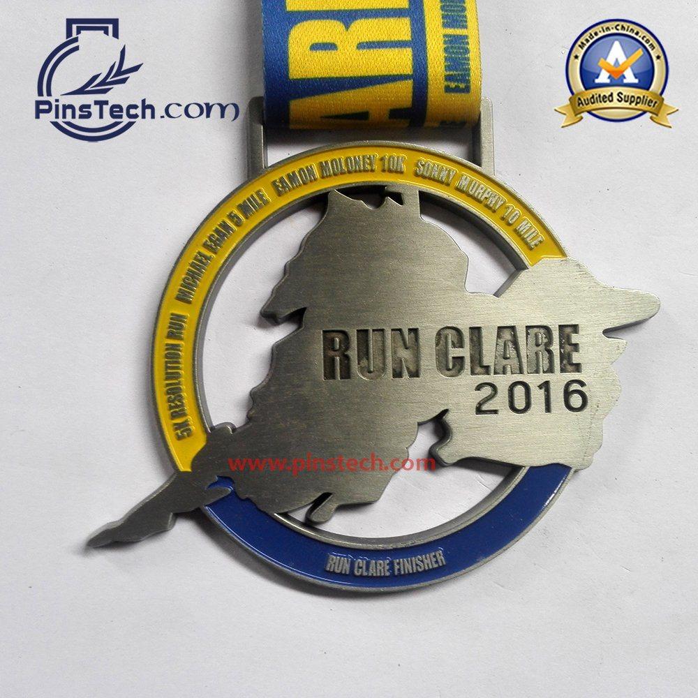 Soccer Sports Medal with Soft Enamel Color Filling