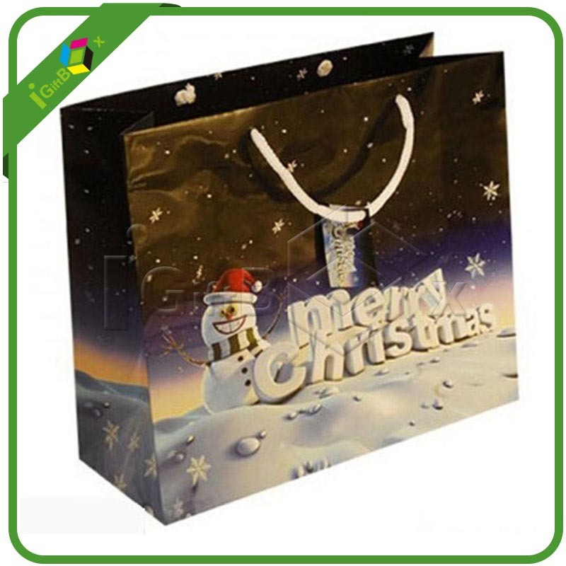Delicate Printed Christmas Gift Bag Wholesale