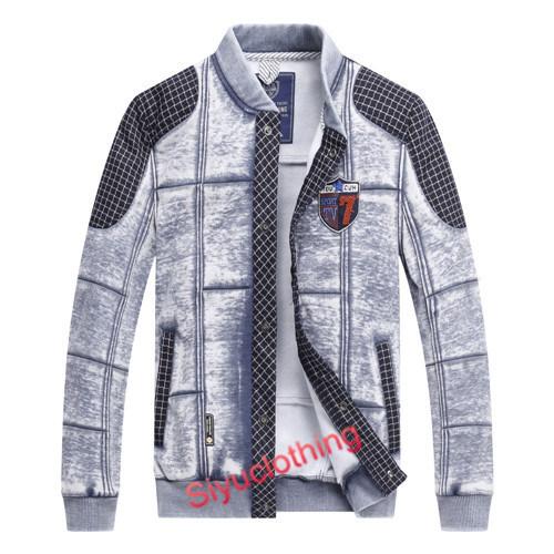 Mens 100%Cotton Fashion Casual Jacket Sweater (J-1621)