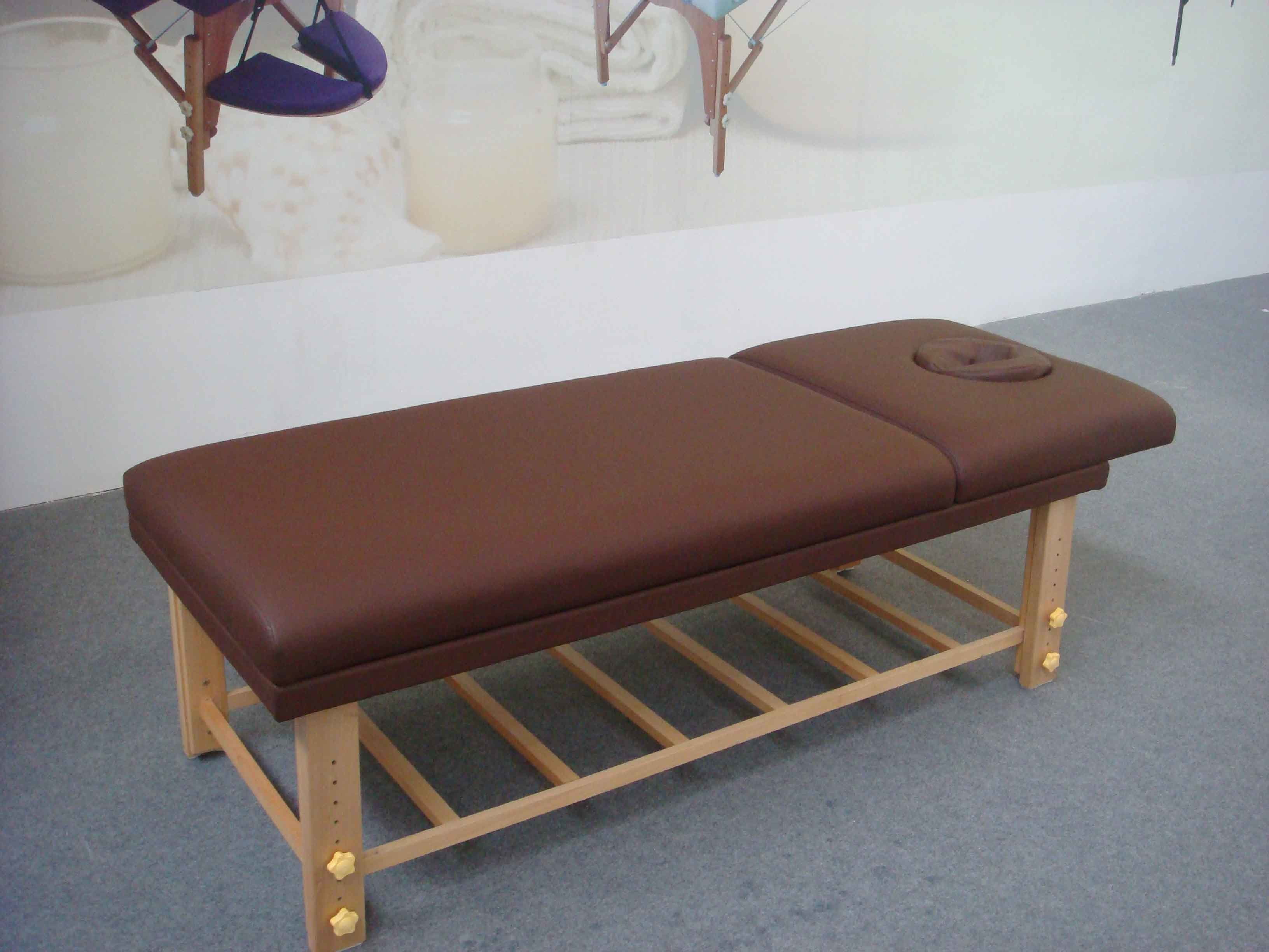 Deluxe Stationary Massage Bed with Backrest and Storage-Sm-002