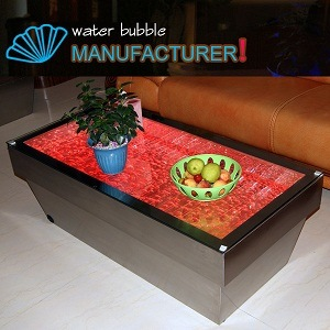China LED Bubble Water Coffee Table 2013 New Design For