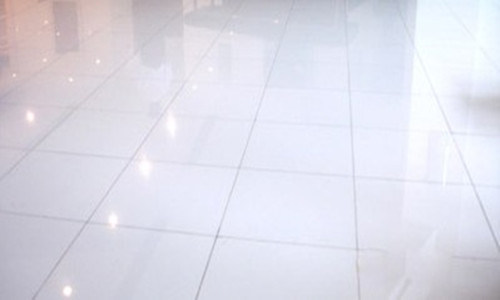 White Artificial Crystal Glass Floor Tile China Crystal Glass Floor