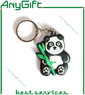 Christmas PVC Keychain with Customized Color