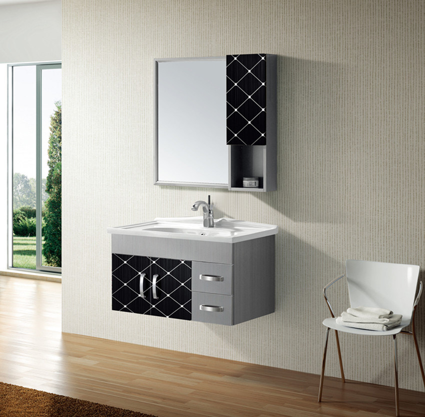Stainless Steel Bathroom Furniture with Mirror Cabinet (T-9456B)