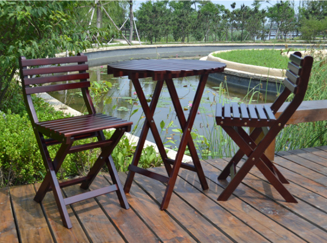 Outdoor Coffee Table and Chairs Folded Table and Chairs Garden Set (M-X1052)