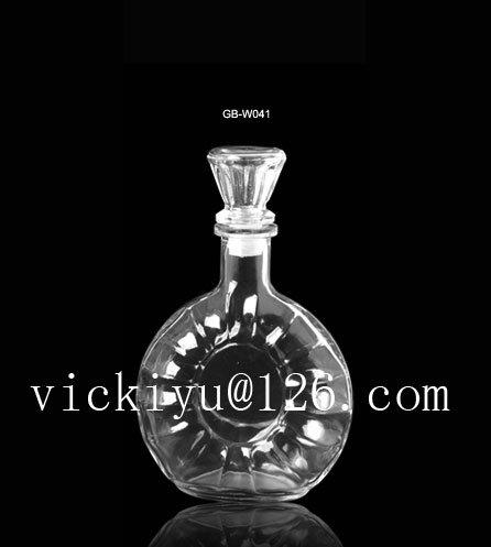 500ml Glass Xo Bottle Glass Vodka Bottle Glass Wine Bottle Tequila Bottle with Mrtal Cap