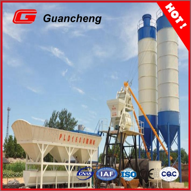 Hzs25 Lifting Hopper Stationary Concrete Batching Plant in China
