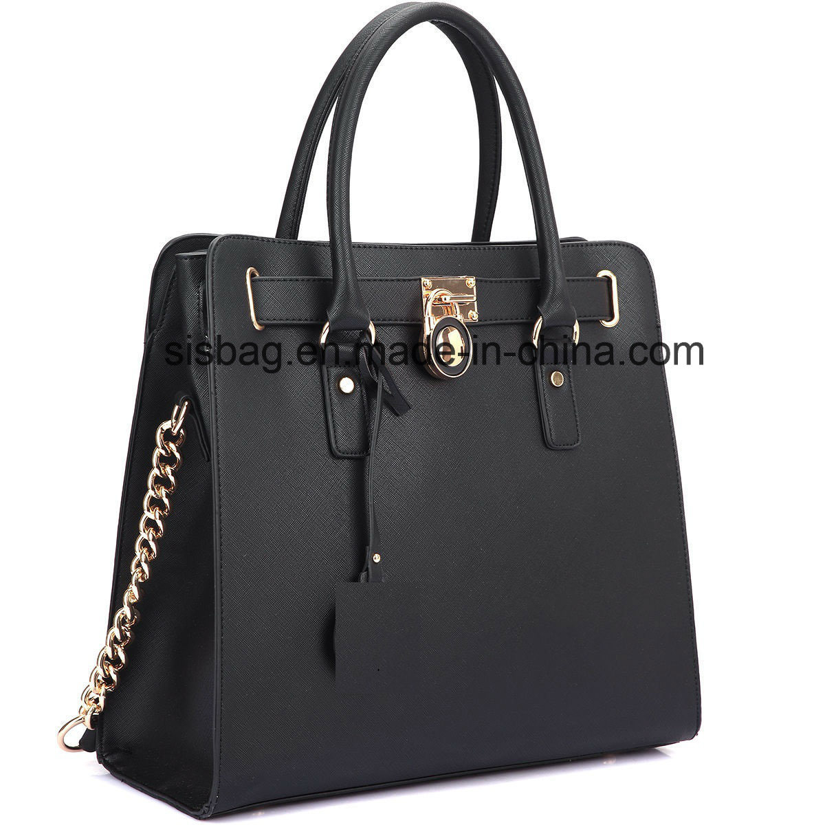 New Designer Padlock Leather Satchel Handbag Briefcase Women Bag