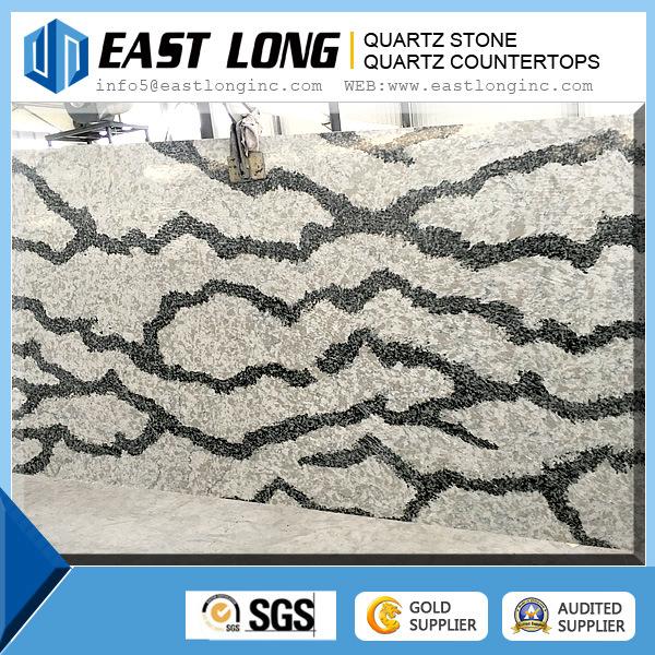 Wholesale Grey Artificial Quartz Stone Slab/ Marble Color Quartz Stone
