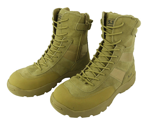 5.11 Tactical Action Leather and 900d Nylon Boots Tan (WS20295)