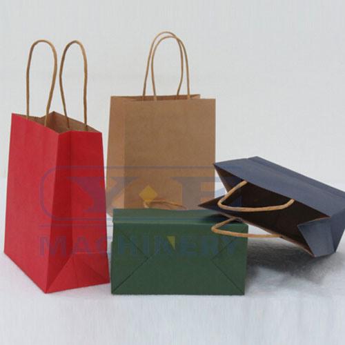 Automatic Roll Feeding Square Bottom Paper Bag Making Machines