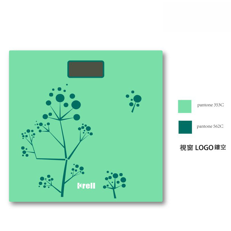 New Slim LCD Display Electronic Weighing Scale with Glass Platform