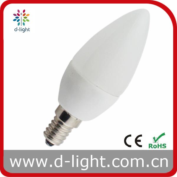 Plastic Candle LED Bulb C35 Cheap Price 2.6W E14